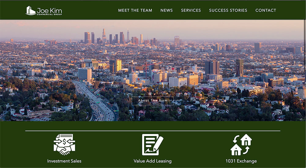 commercial real estate los Angeles web developers