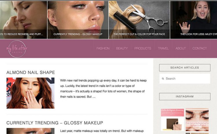 fashion blog web designer