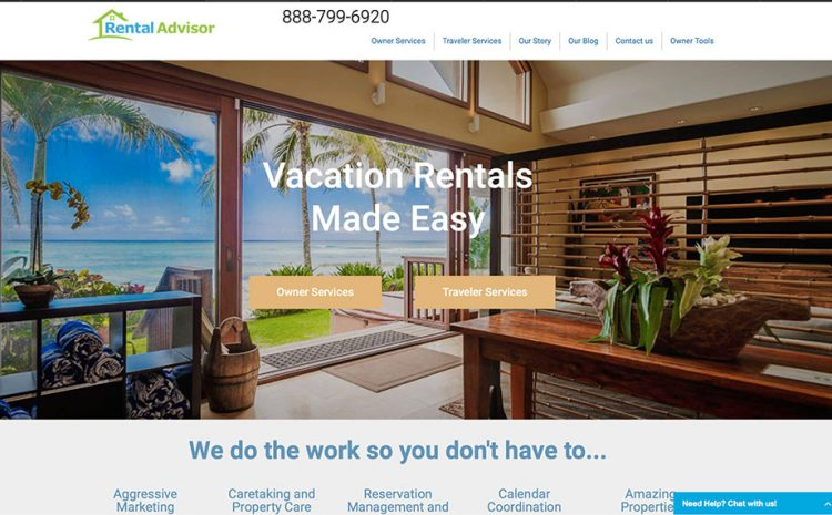 rental property web design