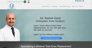 medical surgeon website design