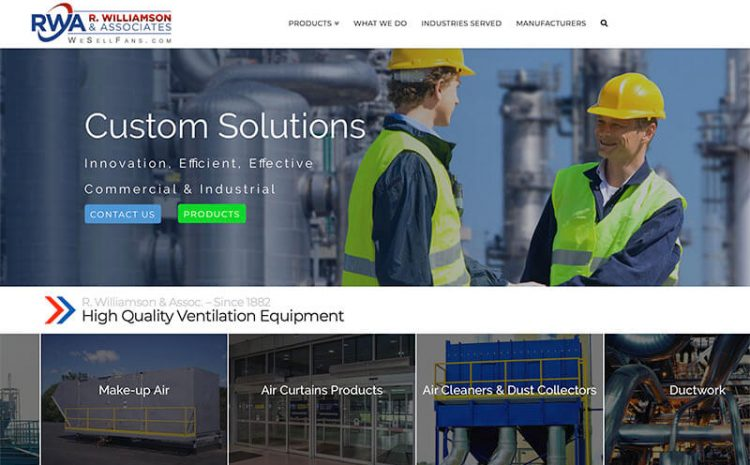 Industrial Fan Website Design